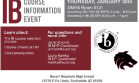 IB Course Selection Info Event – January 30th, 6-7pm